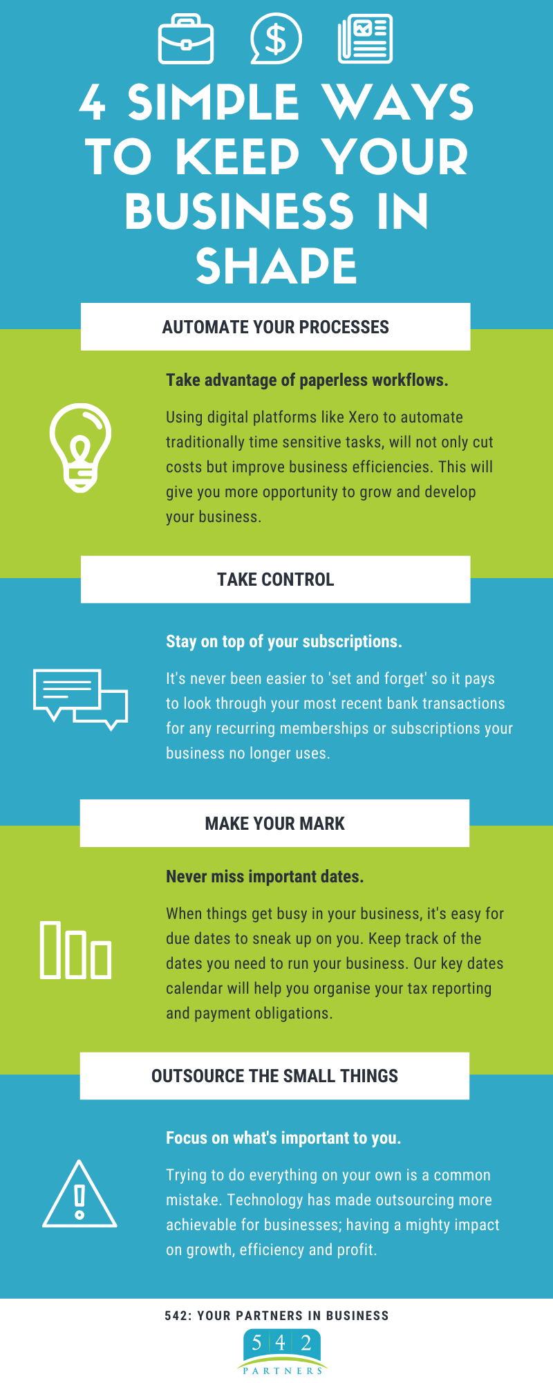 4 simple ways to keep your business in shape