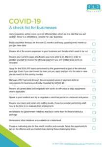 542 Partners Business Checklist March 2020 pdf
